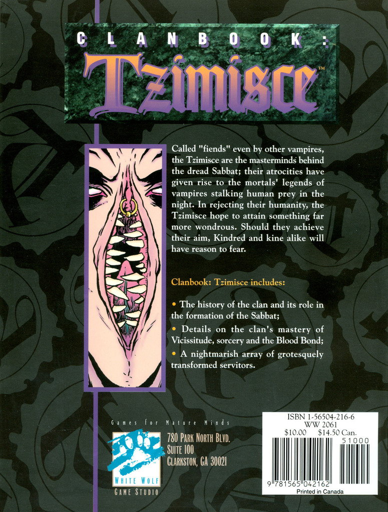 Clanbook: Tzimisce (1st Edition) [Vampire: The Masquerade V5]